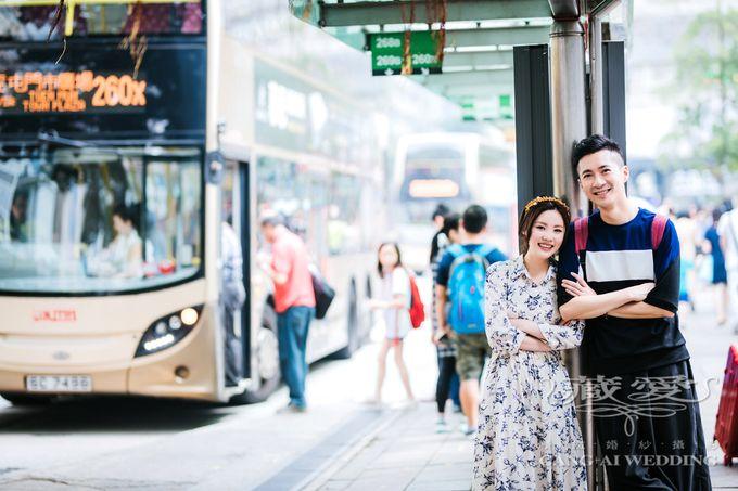 Bustling Street of Hong Kong by Cang Ai Wedding - 022