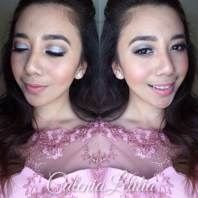Bridesmaid for Gisella & Adhi Wedding by Calenia Letitia Makeup Artist - 003
