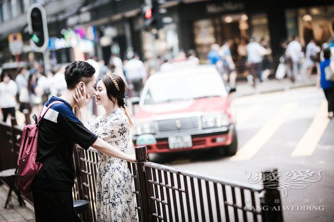Bustling Street of Hong Kong by Cang Ai Wedding - 023
