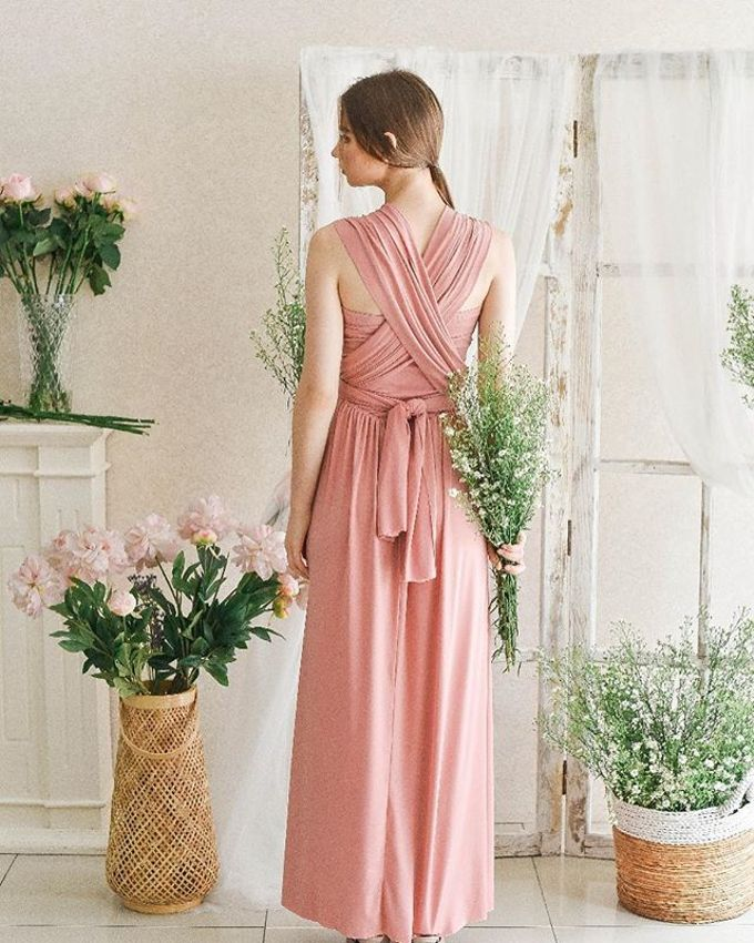 Infinity Dress 1 dress can be styled in many ways by upper east bridesmaid - 001