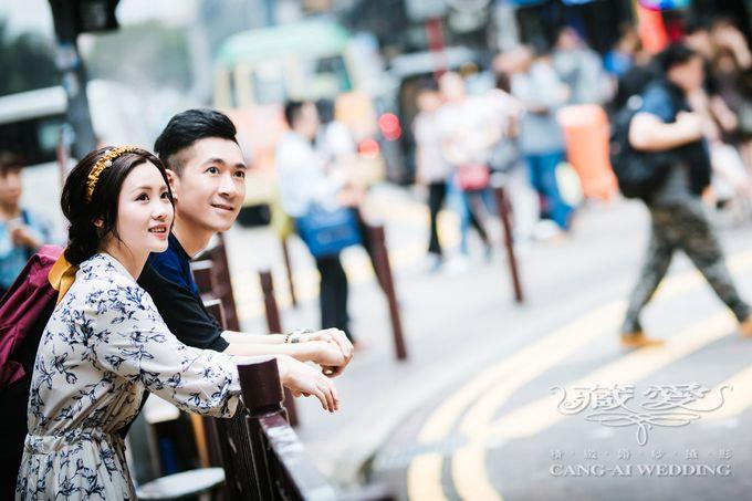Bustling Street of Hong Kong by Cang Ai Wedding - 024