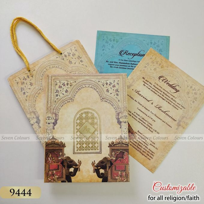 Designer wedding invitations collection by SEVEN COLOURS CARD - 021