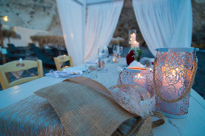 Beach wedding in Santorini by Red Knot Weddings & Events - 043