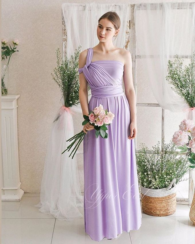 Infinity Dress 1 dress can be styled in many ways by upper east bridesmaid - 017