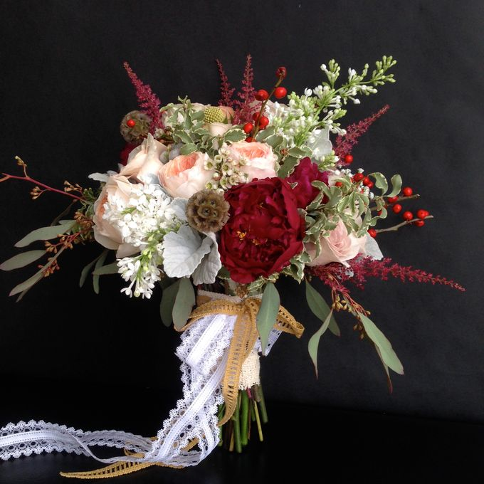 Wedding Bouquet by Jasmine Florist - 006