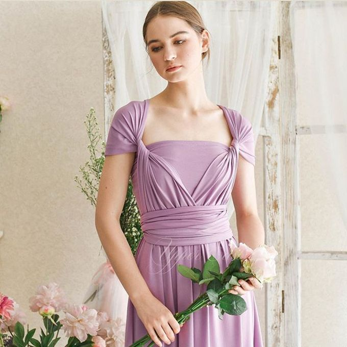 Infinity Dress 1 dress can be styled in many ways by upper east bridesmaid - 021