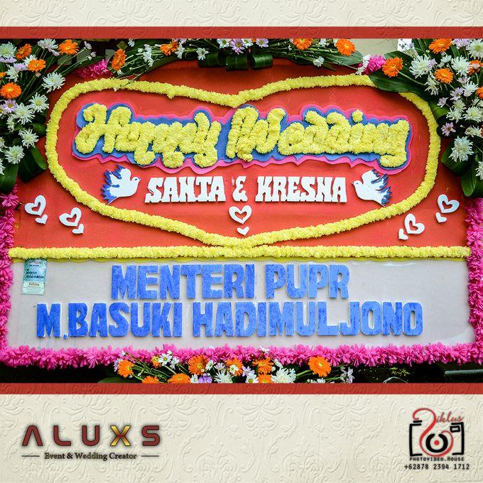The Wedding of Santa & Khresna by Alux's Event & Wedding Creator - 011