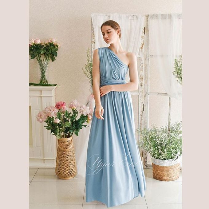 Infinity Dress 1 dress can be styled in many ways by upper east bridesmaid - 010