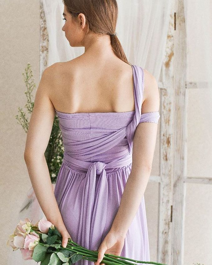 Infinity Dress 1 dress can be styled in many ways by upper east bridesmaid - 015