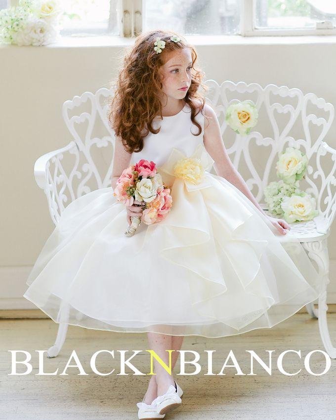 Three Layered Flower Girl Dress by Black N Bianco - 004