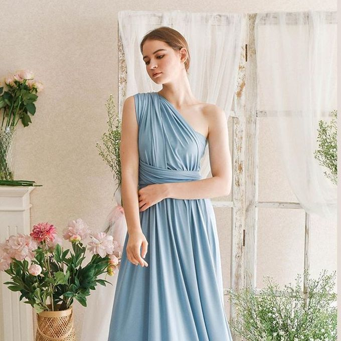 Infinity Dress 1 dress can be styled in many ways by upper east bridesmaid - 014