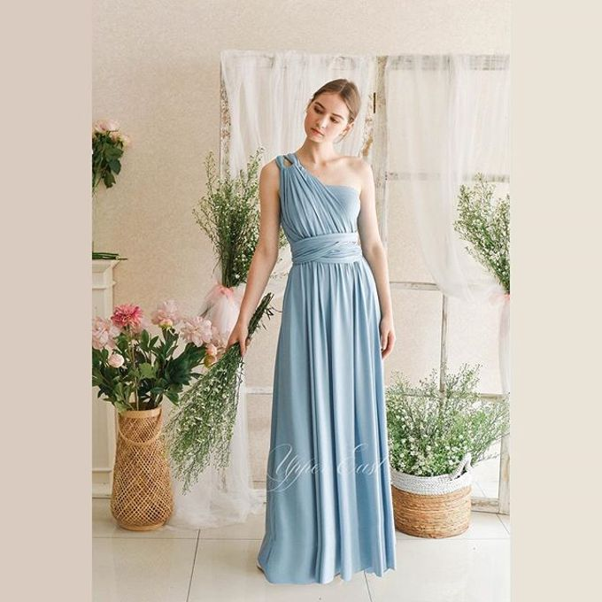 Infinity Dress 1 dress can be styled in many ways by upper east bridesmaid - 013