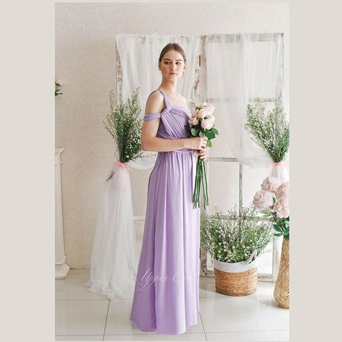 Infinity Dress 1 dress can be styled in many ways by upper east bridesmaid - 022