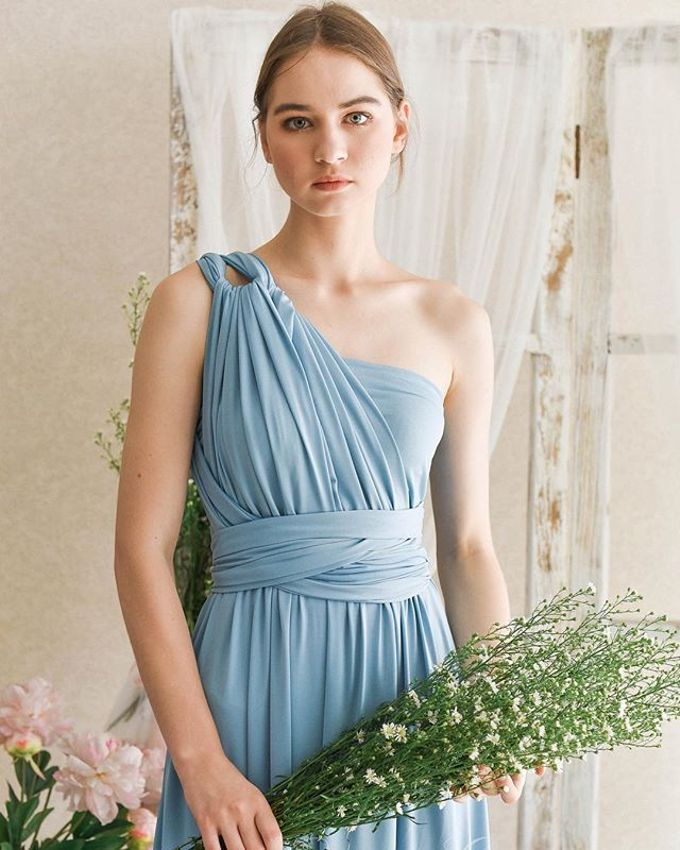 Infinity Dress 1 dress can be styled in many ways by upper east bridesmaid - 012