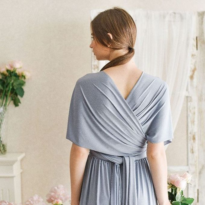 Infinity dress, one dress can be styled in 20 ways by upper east bridesmaid - 001