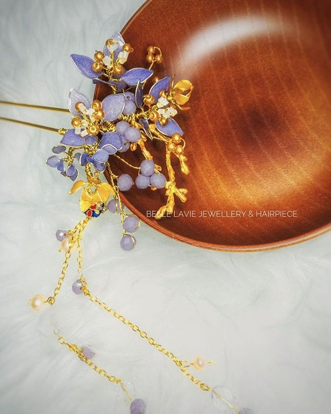 Hydrangea Chinese Hairstick by Belle La_vie - 003