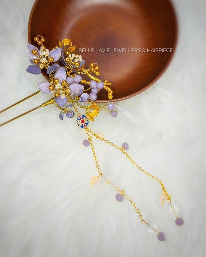 Hydrangea Chinese Hairstick by Belle La_vie - 004