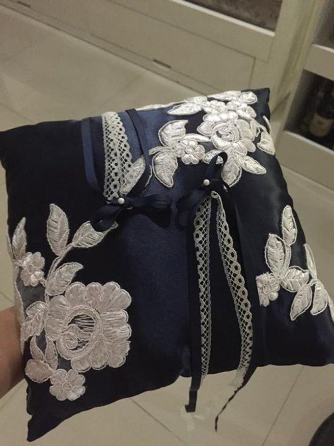 Midnight Blue Wedding Pillows by La Bella - 005