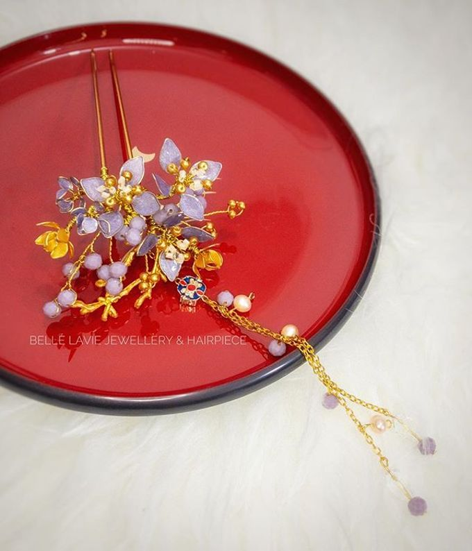 Hydrangea Chinese Hairstick by Belle La_vie - 001