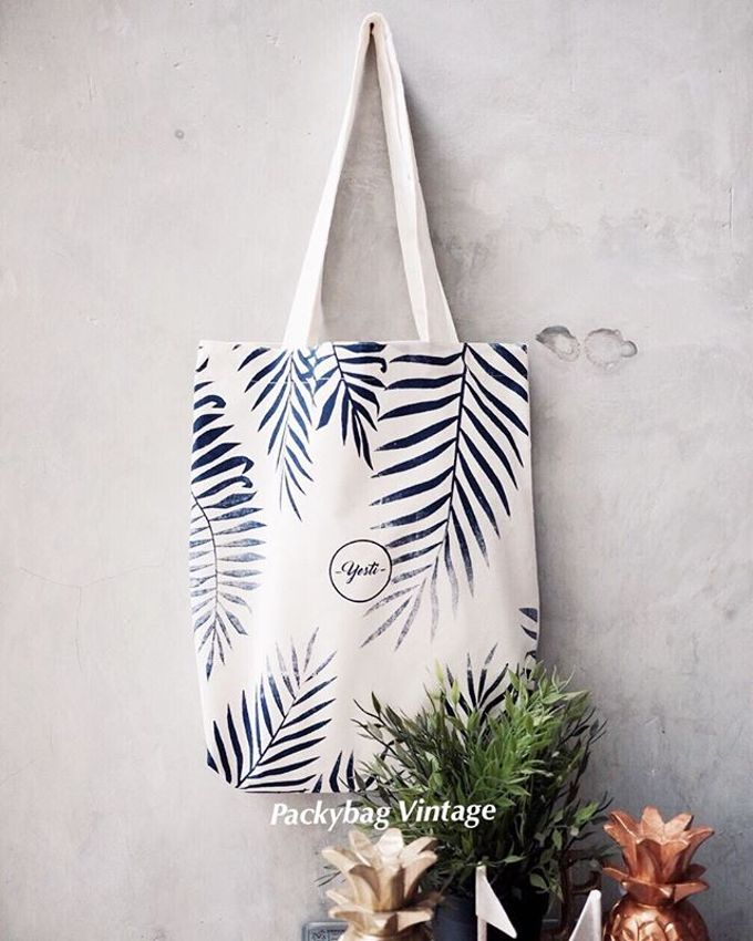 Totebag blacu (calico) pattern // Yesti Gift by Packy Bag Vintage - 001