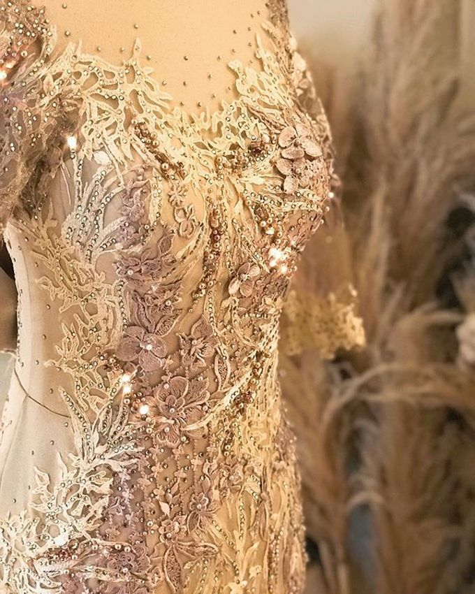 Gold Theme Dress by Berta Chandra Couture - 005