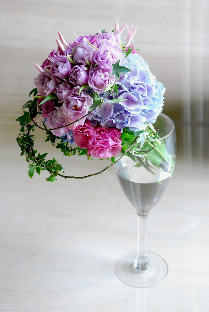Purple Blue Theme Wedding Bouquet By Hana Flower Boutique By Hana