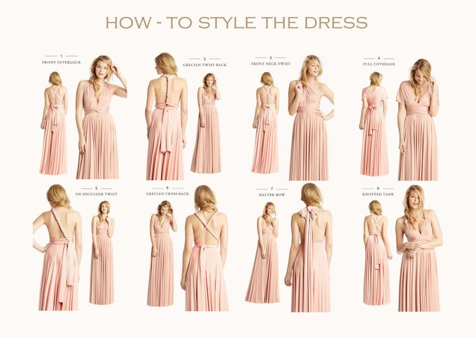 Convertible Bridesmaid Dress by The White Gallery | Bridestory.com