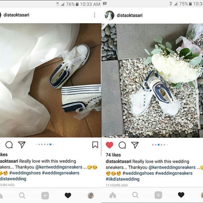 Thank You Our Lovely Customers by Kent Wedding Sneakers - 005
