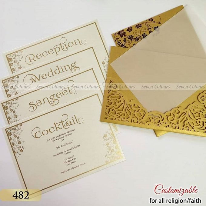 Designer wedding invitations collection by SEVEN COLOURS CARD - 003