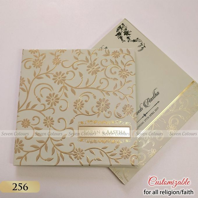 Designer wedding invitations collection by SEVEN COLOURS CARD - 024