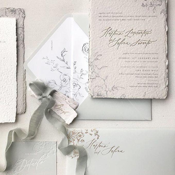 Dreamy deckle edge by Pensée invitation & stationery - 003