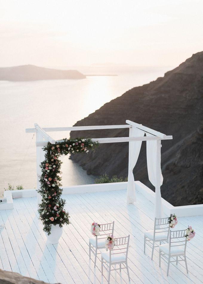 Dusty Pink Dream Wedding in Santorini by Stella & Moscha Weddings - 026