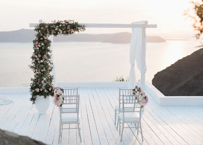 Dusty Pink Dream Wedding in Santorini by Stella & Moscha Weddings - 027