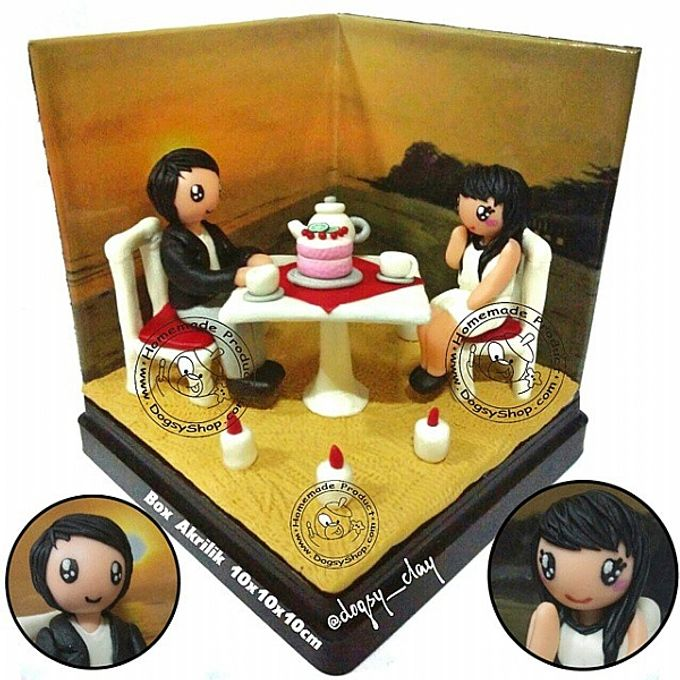 Wedding couple - 10x10x10cm SIZE - Bisa jadi Wedding Cake Topper by ...