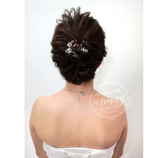 Bridal make up and hairdo for short hair by Fennymakeupartist - 005