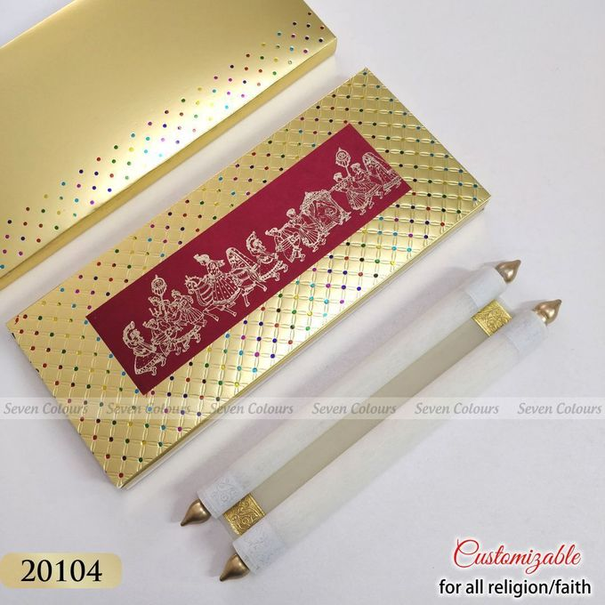 Designer wedding invitations collection by SEVEN COLOURS CARD - 026