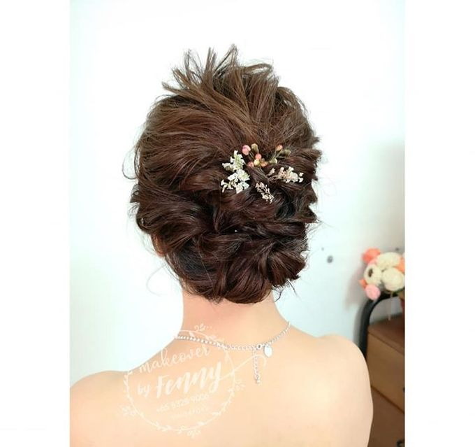 Bridal make up and hairdo for short hair by Fennymakeupartist - 008