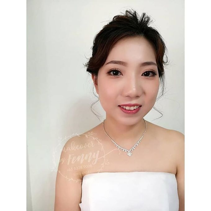 Bridal make up and hairdo for short hair by Fennymakeupartist - 002