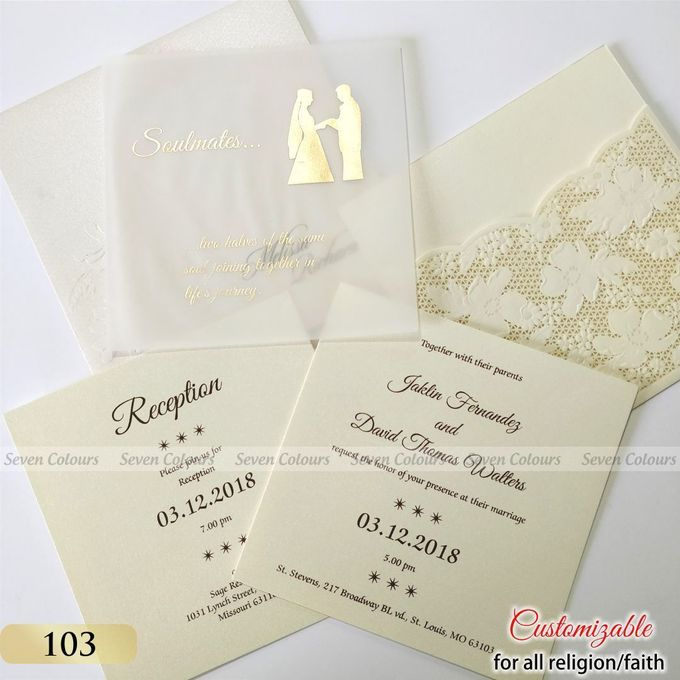Designer wedding invitations collection by SEVEN COLOURS CARD - 027