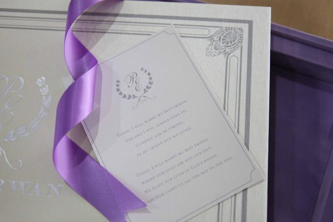 The Wedding of Phinarwan & Ester by PAM'S INVITATIONS & STATIONERY - 005