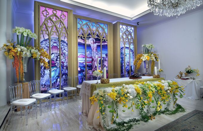 Golden Winter Wedding by Flora Lines Decoration - 001