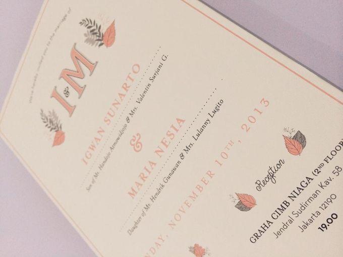 The Wedding of Igwan & Maria by PAM'S INVITATIONS & STATIONERY - 004