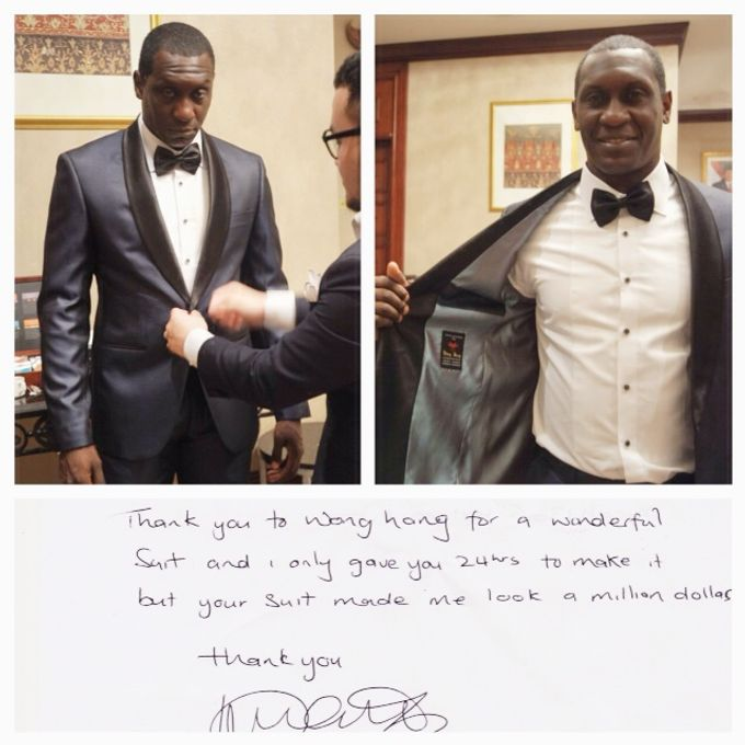 Suit Design for Emile Heskey by Wong Hang Distinguished Tailor - 006