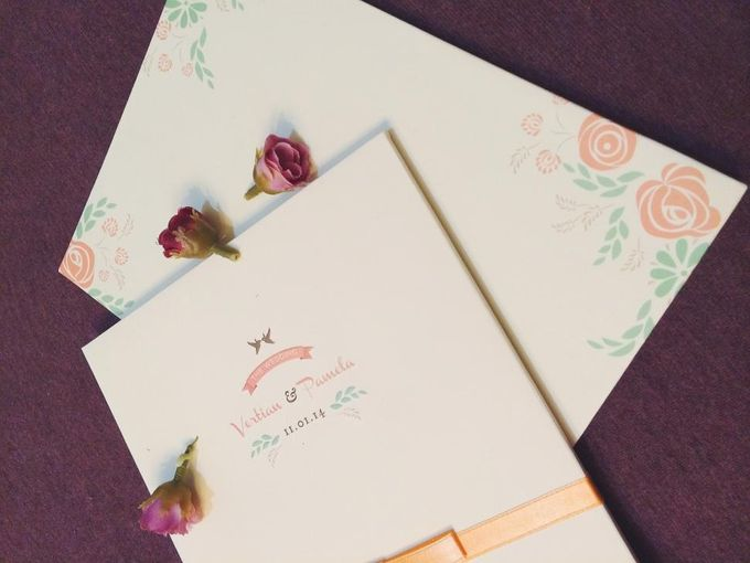 Peachy Tiffany Wedding by PAM'S INVITATIONS & STATIONERY - 002