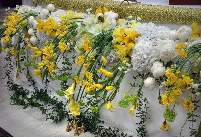 Golden Winter Wedding by Flora Lines Decoration - 003