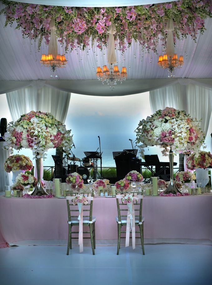 Romantic Blush Wedding in Bali by Flora Lines Decoration - 003