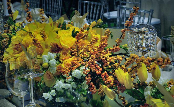 Golden Winter Wedding by Flora Lines Decoration - 004