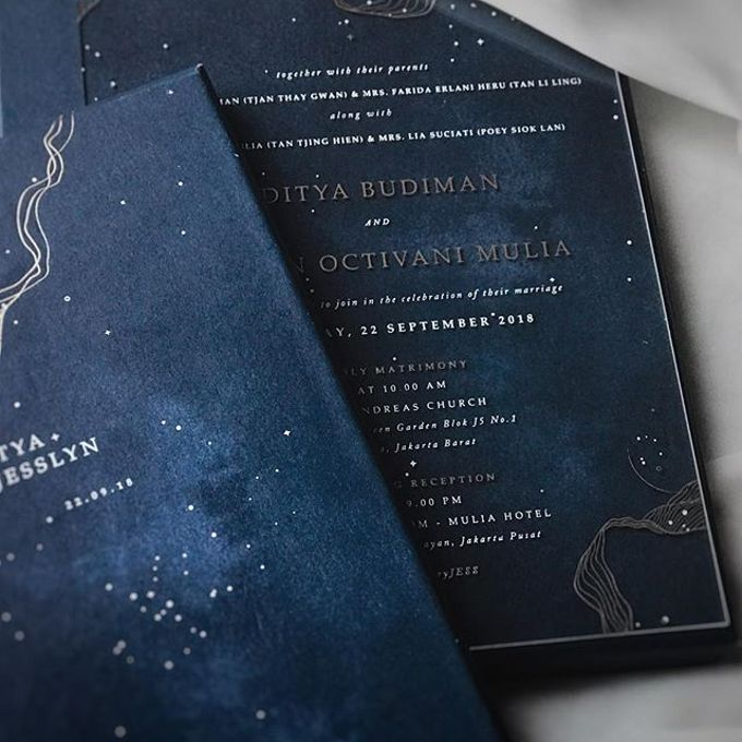 Starry night  by Pensée invitation & stationery - 001