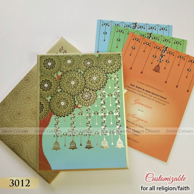 Designer wedding invitations collection by SEVEN COLOURS CARD - 028