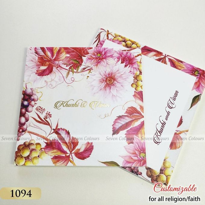 Designer wedding invitations collection by SEVEN COLOURS CARD - 029